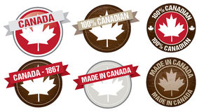 Canada labels designs. Set of Canada flag labels designs Stock Photography