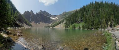 A sunny afternoon at Lake Agnes stock photo