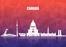 Canada Landmark Global Travel And Journey paper background. Vect Royalty Free Stock Image