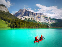 Canada Landscape Mountains Emerald Lake Royalty Free Stock Photo