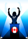 Canada Leader Giving Speech on Stage Royalty Free Stock Photography