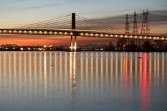 Canada Line Bridge Twilight, Vancouver stock photos