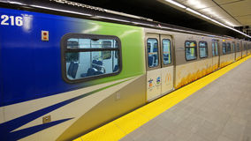 Canada Line Vancouver Transit Royalty Free Stock Photo