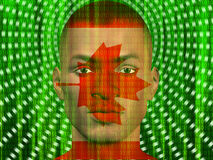 Canada Male with Binary Royalty Free Stock Photos