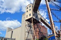 Canada Maltage grain elevators. MONTREAL CANADA 08 08 17: Canada Maltage grain elevators the largest malt company in Canada, producing approximately 400,000 stock photos