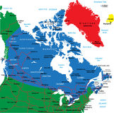 Canada map Royalty Free Stock Photography