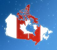 Map of Canada isolated in the sky. stock illustration