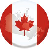 Canada map and flag Stock Photo