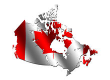 Canada map flag Stock Photos