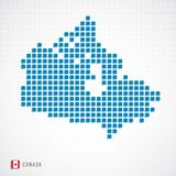 Canada map and flag icon royalty free illustration