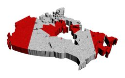 Canada map flag mosaic illustration Royalty Free Stock Photos