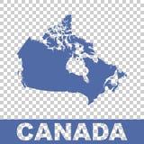Canada map. Flat vector Royalty Free Stock Photos