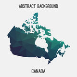 Canada map in geometric polygonal,mosaic style. Royalty Free Stock Image