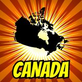 Canada Map stock illustration