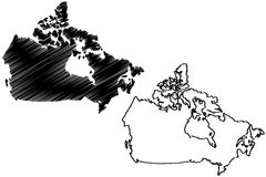 Canada map vector Stock Photography