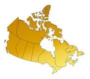 canada mapa Obraz Stock