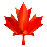 Canada maple leaf. With low polygon design Royalty Free Stock Images