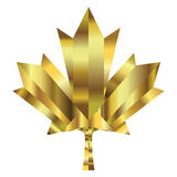 Canada maple leaf. Made with  golden plates. 3D look Royalty Free Stock Image
