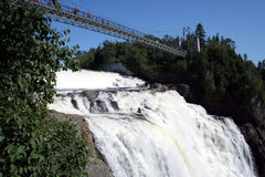 Canada Montmorency Falls. Footbridge at Montmorency Falls, Canada Royalty Free Stock Photo