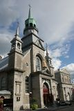 Canada Montreal Old Church. Montreal, Canada -Old City Church with golden Madonna and Child Stock Photography
