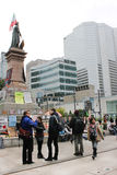 canada Montreal zajmuje Quebec ulicy ścianę Fotografia Royalty Free