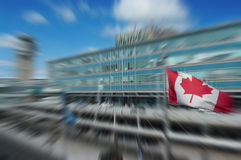 Canada in motion concept. With office building motion blurred effect Stock Photography