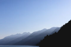 Canada Mountains. Mountains in the morning light off Vancouver heading towards Vancouver Island Royalty Free Stock Images