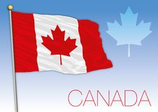 Canada national flag with maple leaf symbol Stock Photography