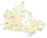 Canada national park map Stock Photos