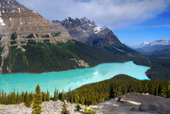 Canada, Nature Landscape, Banff National Park. Scenic nature landscape with Rocky Mountains and Peyto Lake, Banff National Park, Alberta, Canada Stock Images