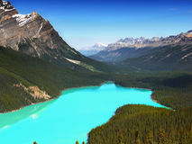 Canada, Nature Landscape, Banff National Park. Scenic nature landscape with Rocky Mountains and turquoise Peyto Lake, Banff National Park, Canada Stock Photography