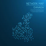 Canada network map. Royalty Free Stock Photo
