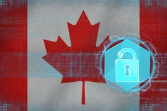 Canada network protected. Internet defense concept. Stock Photography