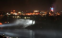 Canada Niagara Falls at night Stock Photo