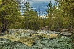 Canada, North Bay, Duchesnay Folls. Stock Image