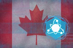 Canada nuclear energy. Nuclear power concept. Stock Photo