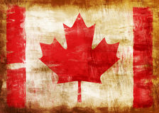 Canada old painted flag Stock Photo