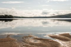Canada Ontario Lake of two rivers Beach near the water in Algonquin National Park Stock Image