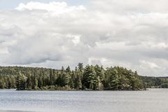 Canada Ontario Lake of two rivers natural wild landscape near the water in Algonquin National Park Stock Photography