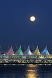 Canada Palce and full moon Stock Photography