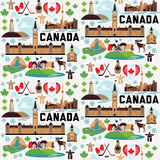 Canada pattern. With Buildings and Monuments Royalty Free Stock Photography