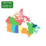 Canada pilitical map icon. Business cartography concept Canada p Royalty Free Stock Image