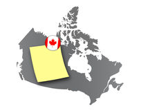 Canada - Pin board Stock Photo