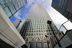 Canada Place in Canary Wharf, Londen Stock Afbeeldingen