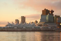 Canada Place Dawn, Vancouver Royalty-vrije Stock Foto's