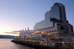 Canada Place Dawn, Vancouver Royalty Free Stock Images
