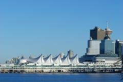 Canada Place de terminal van het cruiseschip, Vancouver, BC Stock Afbeeldingen