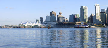 Canada Place and downtown Vancouver BC. Stock Photography
