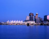 Canada Place at dusk, Vancouver. Stock Images