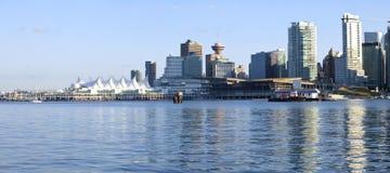 Canada Place en Vancouver van de binnenstad BC. Stock Fotografie